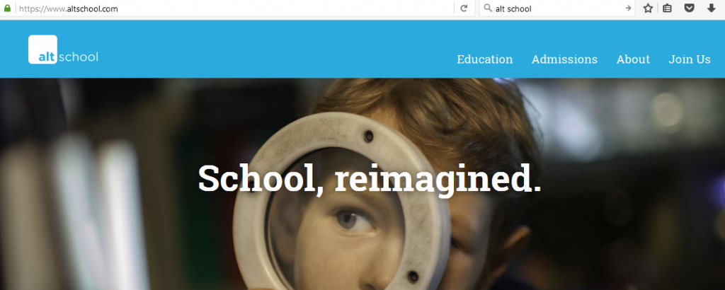Alt School makes it easy for users to immediately know what the site is about.